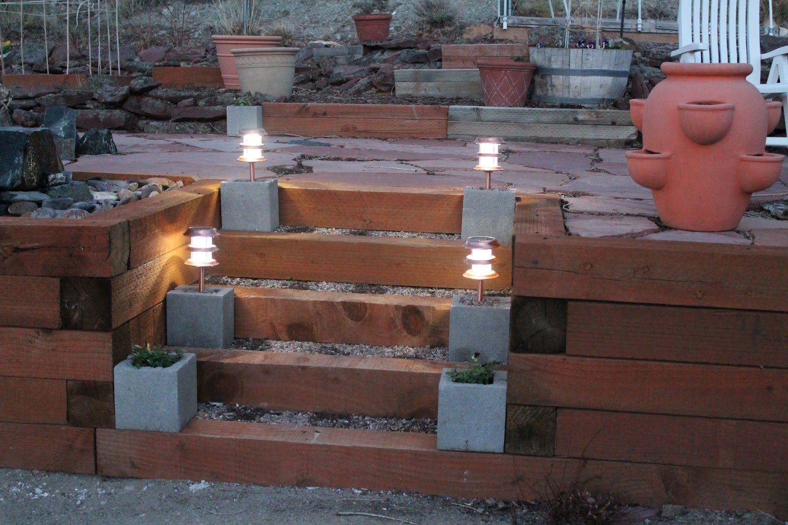 cent cement blocks for your solar patio lights winning camp