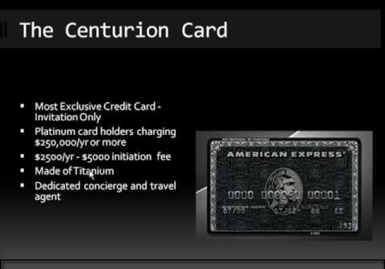 American Express Black Card The Centurion Card | Money savings tips ...
