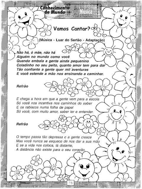 Pedagogiccos Atividade Musica Para O Dia Das Maes Atividades