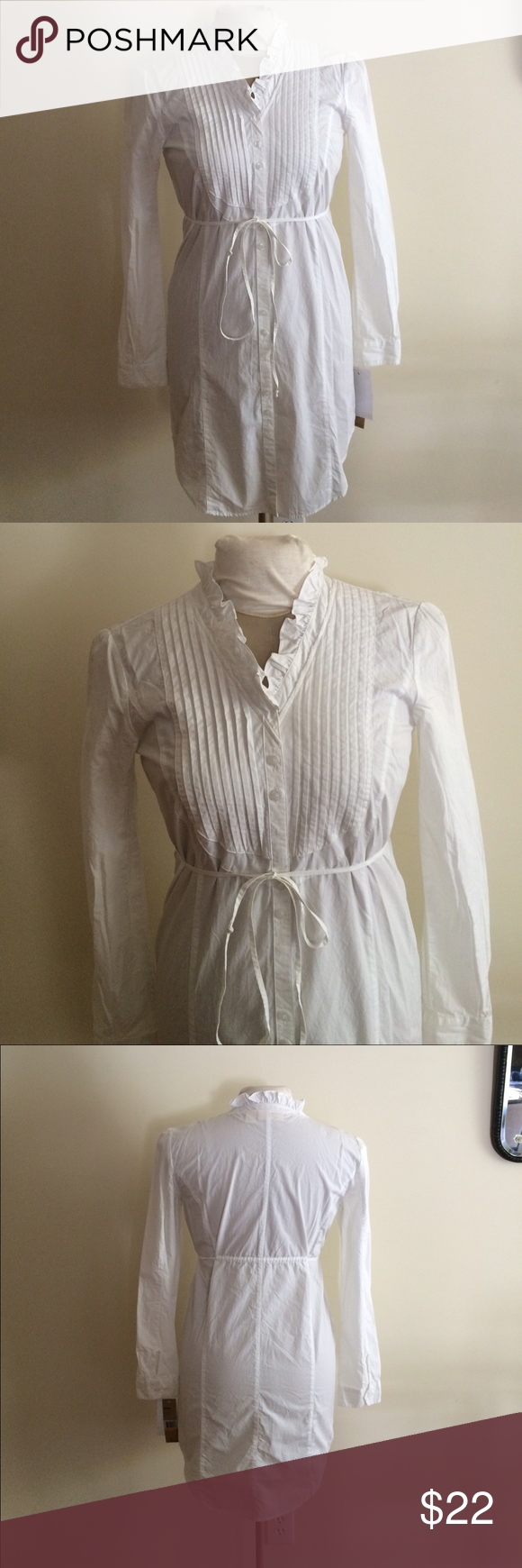 Dkny jeans white cotton dress