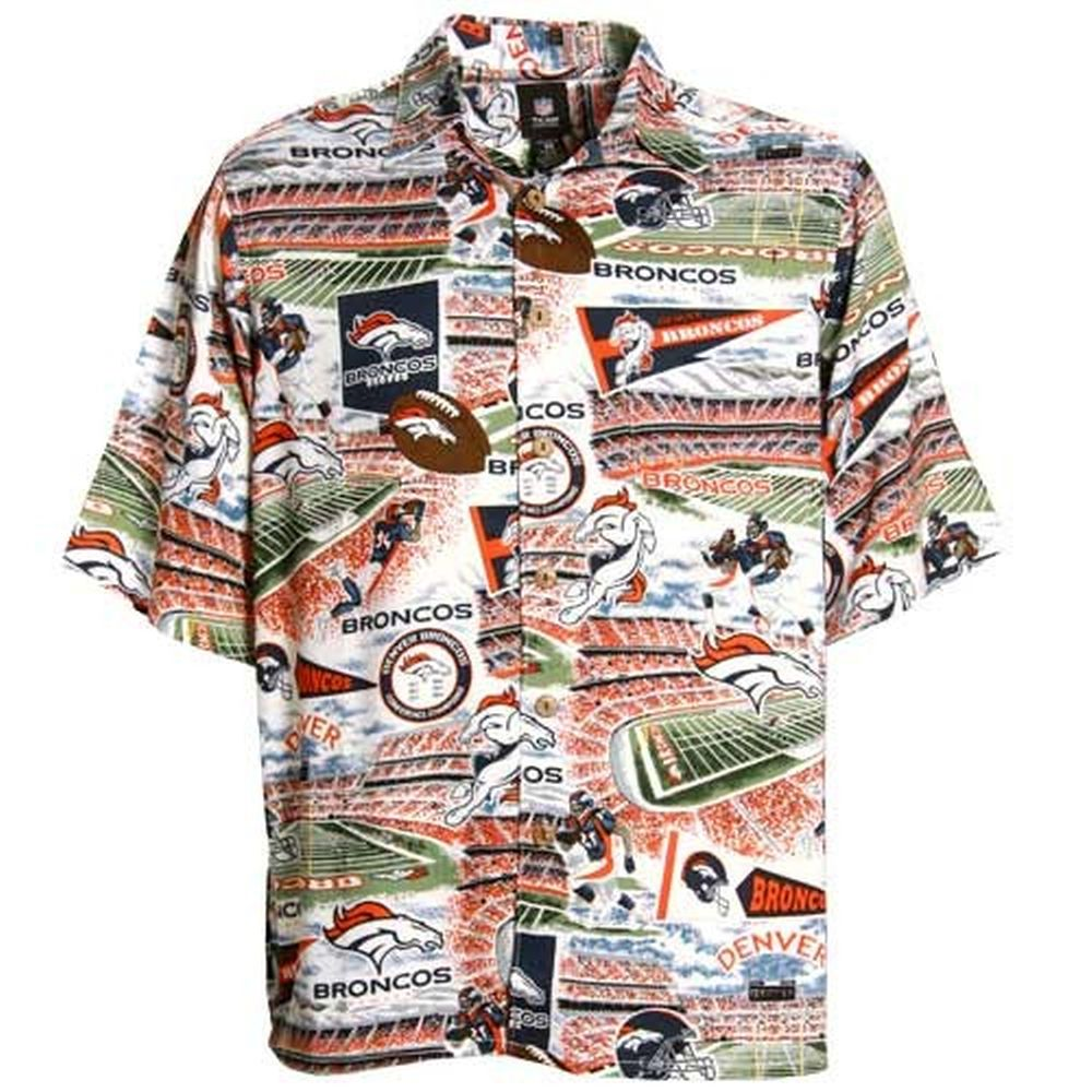 24b88a23 Reyn Spooner Denver Broncos Scenic Print Hawaiian Button-Up Shirt ...