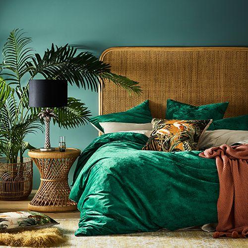 Home Republic Luxe Velvet Quilt Cover Emerald Velvet Quilt Cover Velvet Bedroom Luxe Bedroom