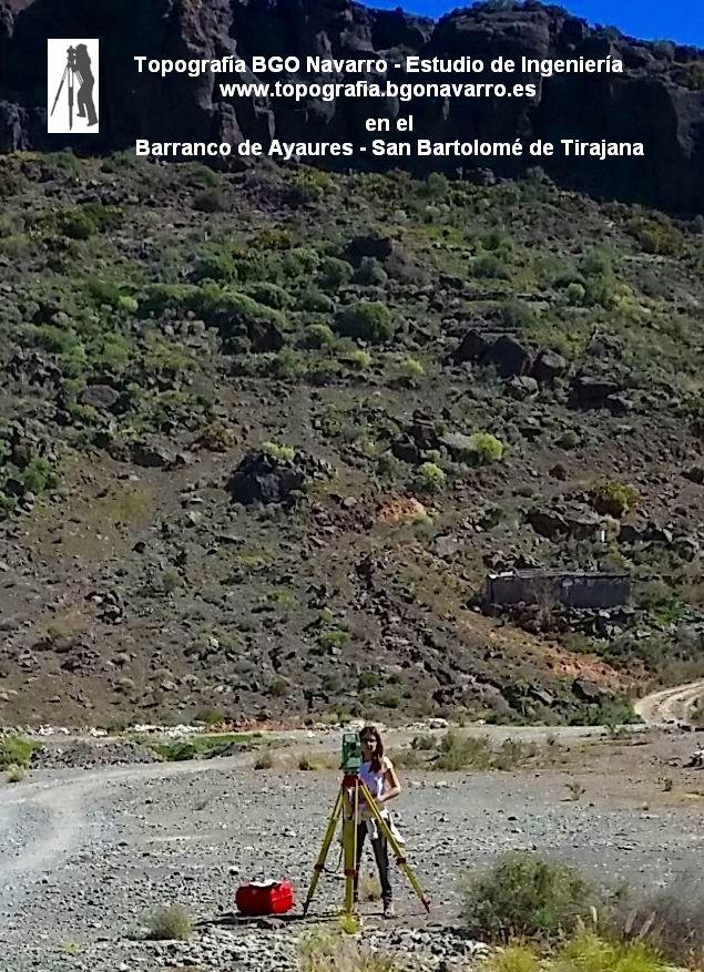 Levantamiento #topográfico - finalidad: #deslinde de parcelas en el Barranco de Ayagaures, San Bartolomé de Tirjana, Gran Canaria  #topografo (http://www.topografia.bgonavarro.es)