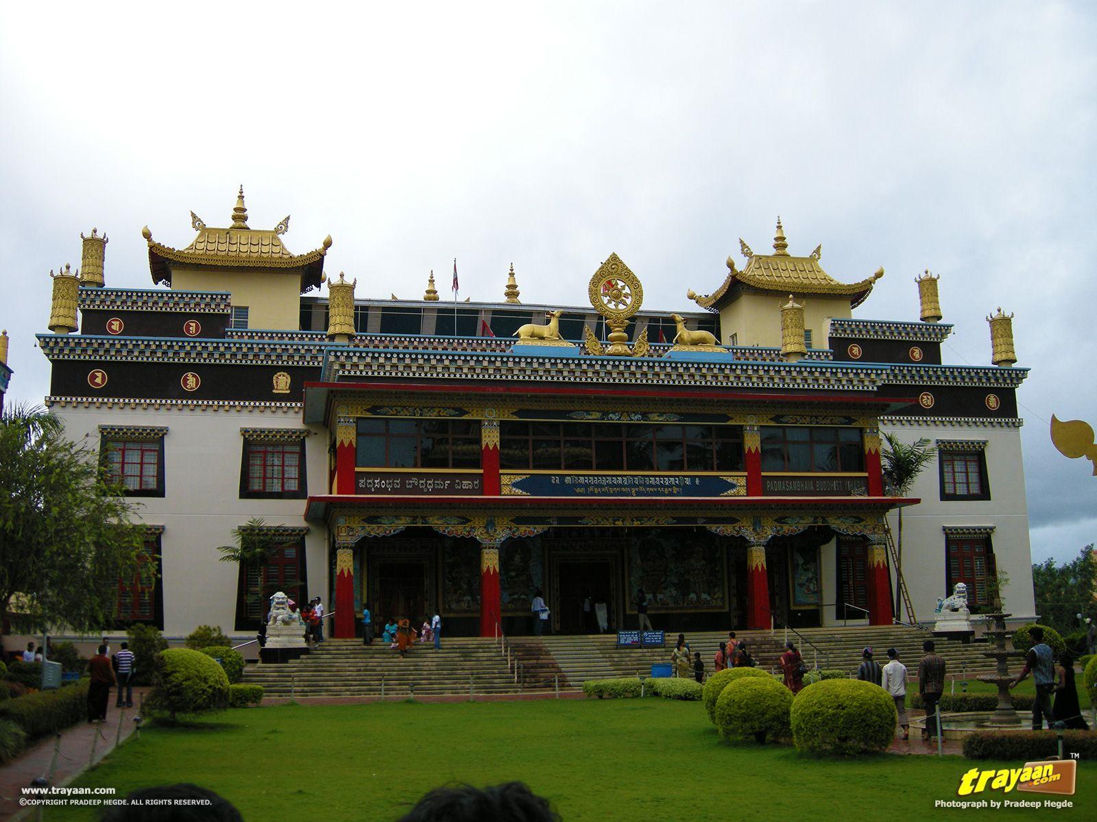 Padmasambhava Buddhist Vihara - popularly known as Golden temple in Namdroling Monastery, Bylakuppe, Mysore district, Karnataka