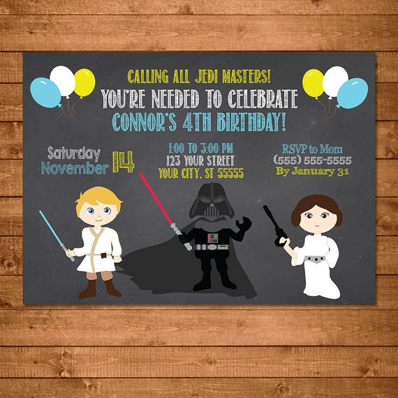 ❤ Star Wars PRINTABLE Invitation ❤  ❥ Instructions ✔ Click Add to Cart now to add this fabulously fun Star Wars Invitation to your party! ✔