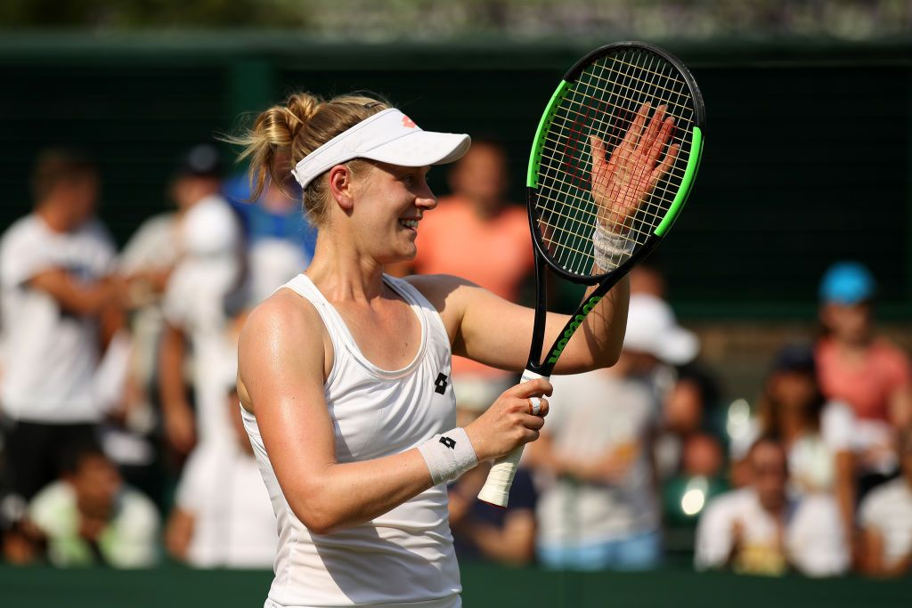 835836d6ae7 Alison Riske of The United States celebrates victory after her ...