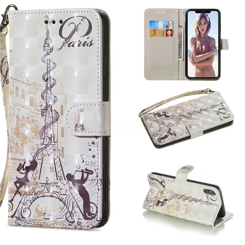 607fd179286323 Tower Couple 3D Painted Leather Wallet Phone Case for iPhone XS Max (6.5  inch)