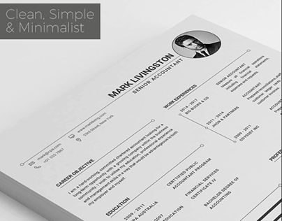 Check out new work on my @Behance portfolio  - resume template accounting