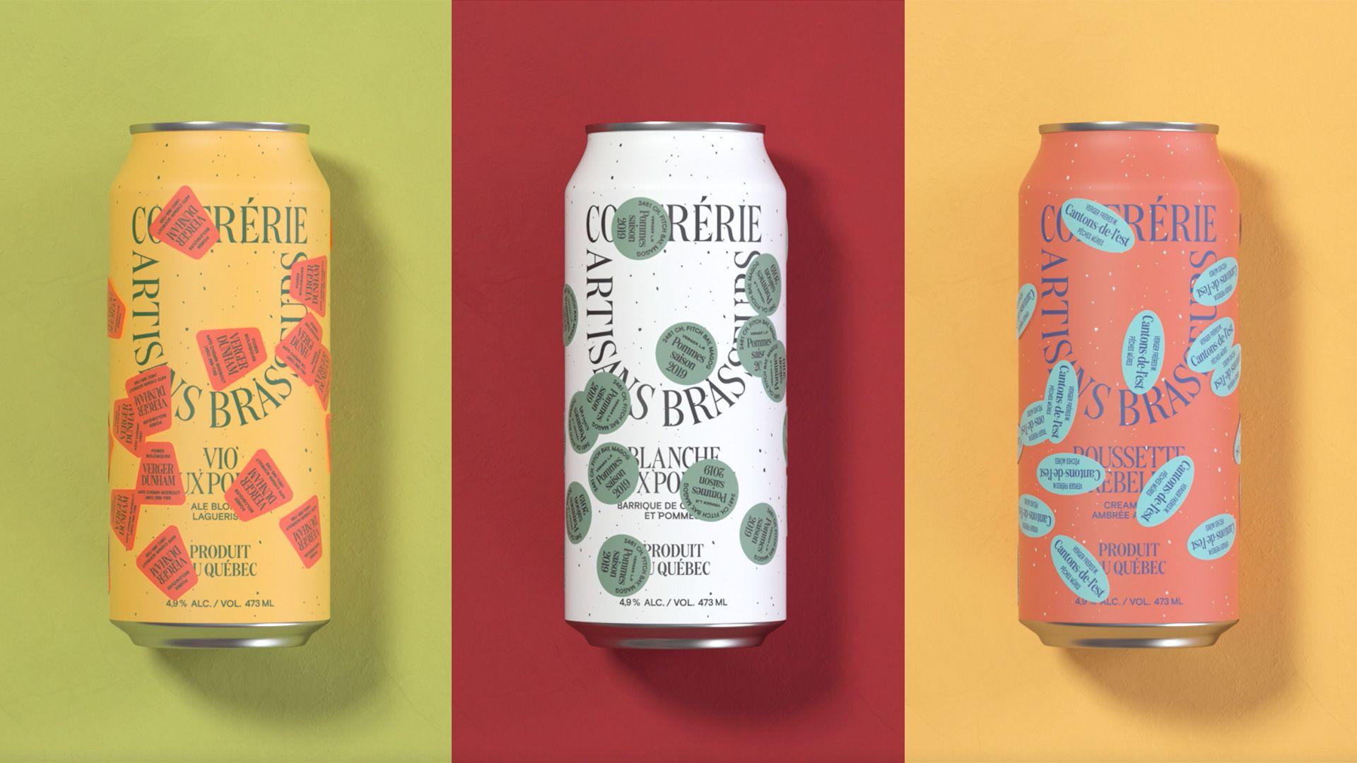 Brewers Confrerie Artisans Brasseurs On Behance In 2020 Flavored Beer Fruit Labels Fruity Drinks