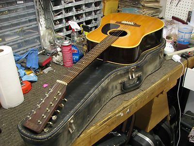 1973 Nashville F 400 12 String Acoustic Guitar Made By Takamine