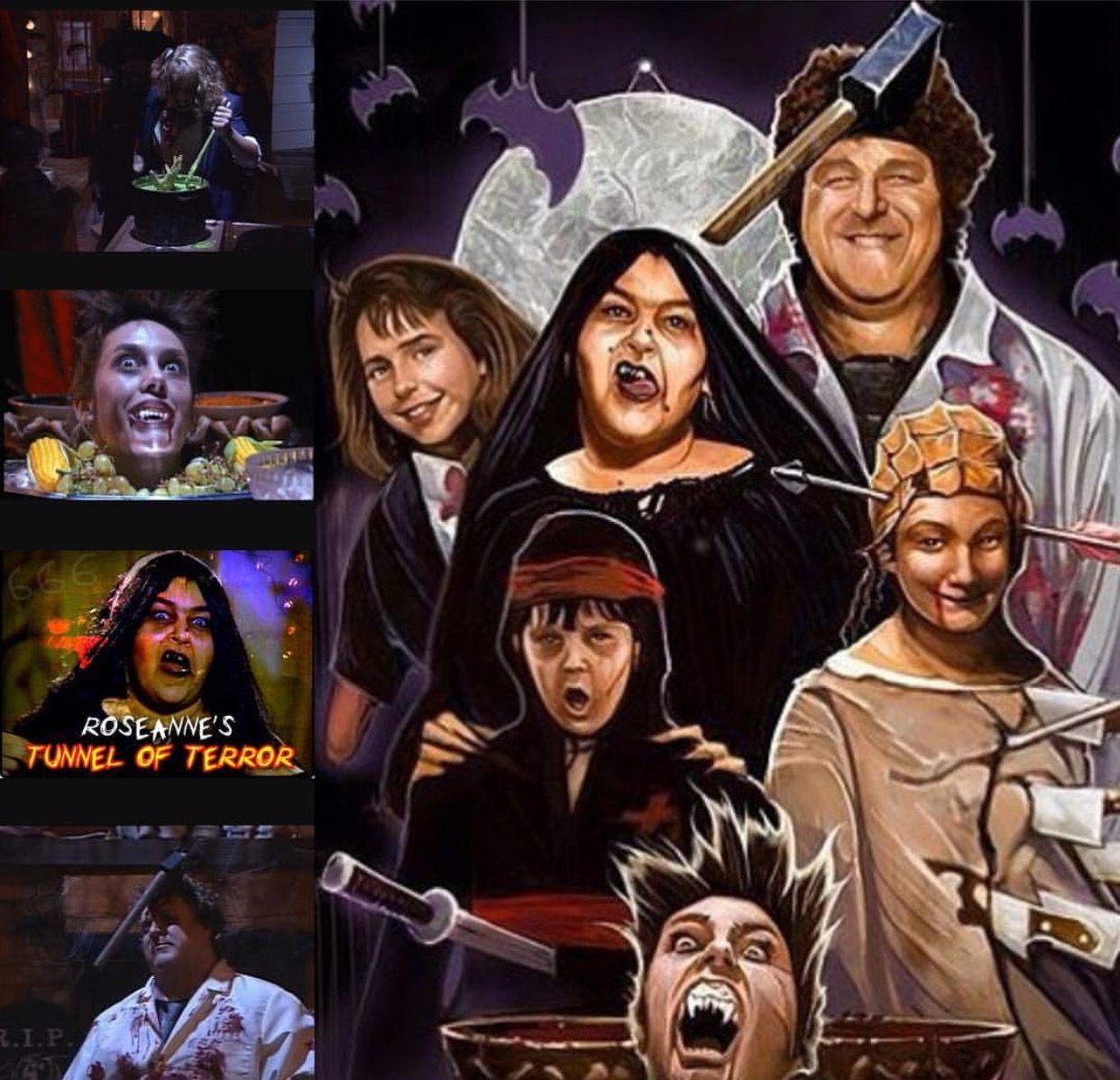 Roseanne Halloween episodes, Roseanne show, Horror