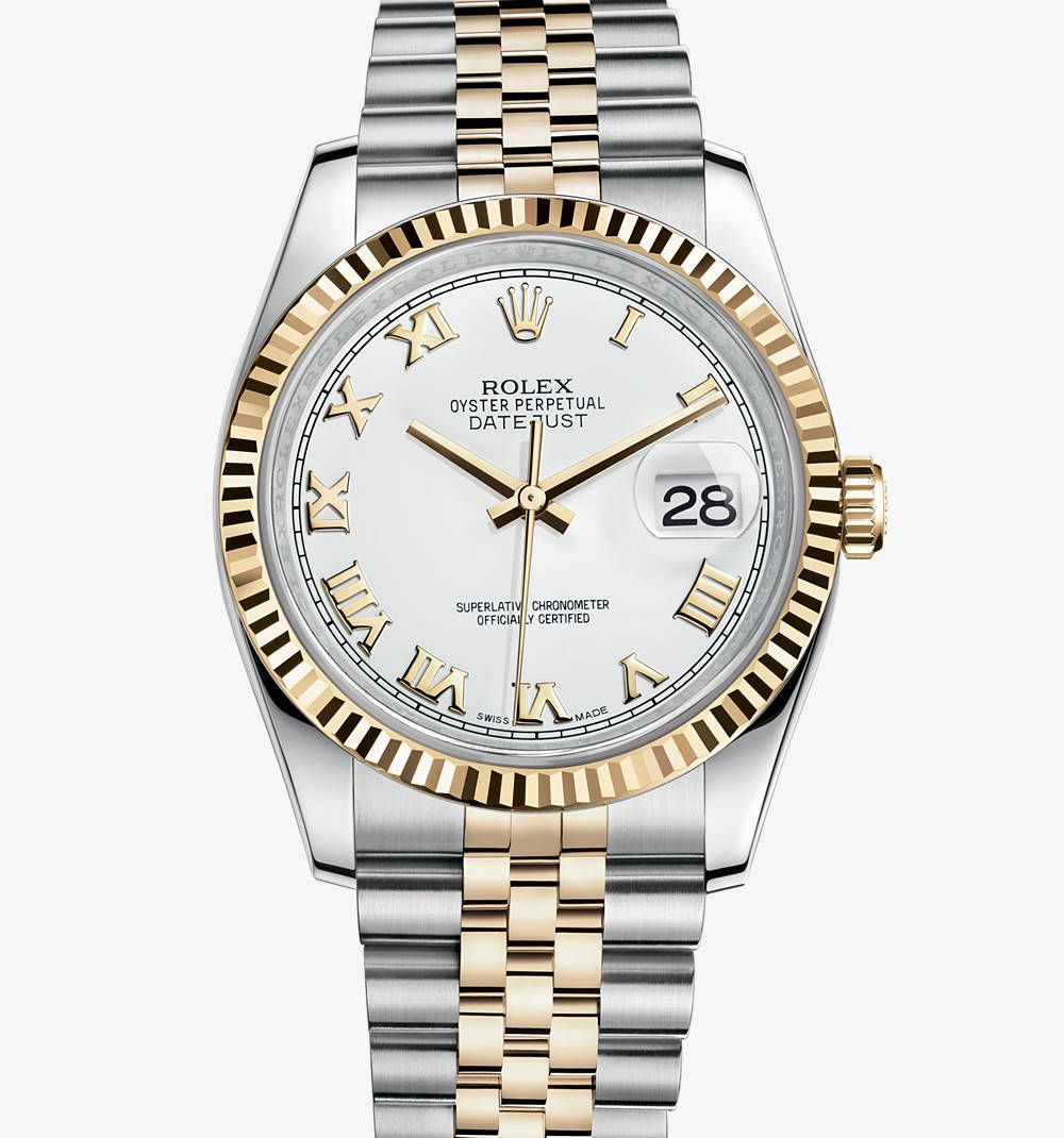 Rolex Damenuhr Rolex Oyster Perpetual Datejust In Two Tone 18k Gold Want This
