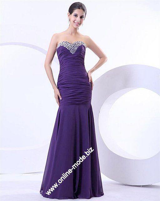 Elegantes Abendkleid in Lila von www.online-mode.biz