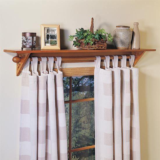 Curtain Rod Shelf Diy Curtain Rods Window Shelves Curtain Rods