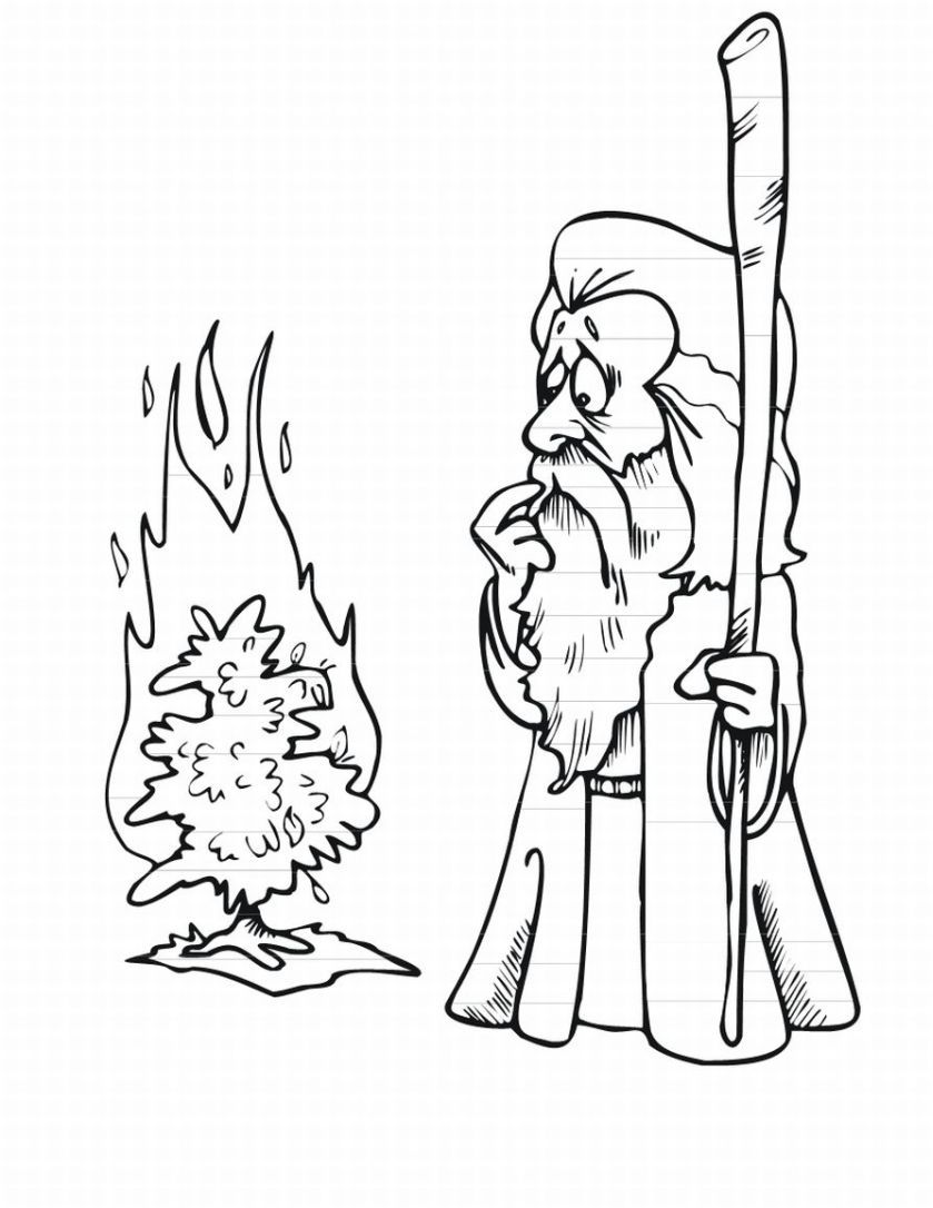 Moses and the Exodus Coloring Pages | Bible class material ...