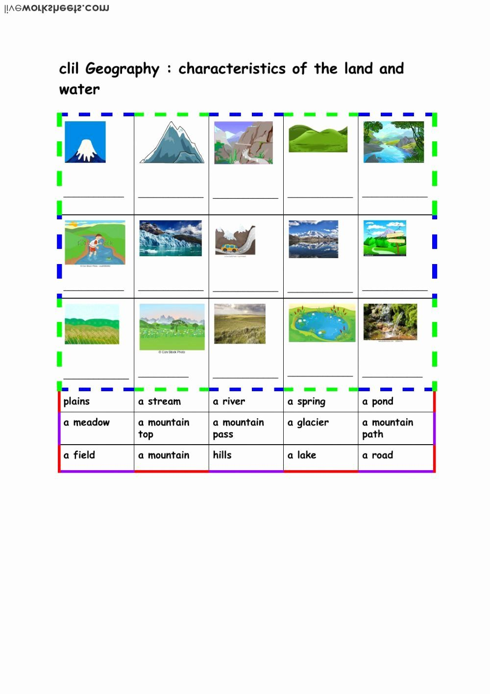 Land And Water Worksheets Best Some Land And Water Characteristics Interactive Worksheet Geography Worksheets Geography Kids Worksheets Printables [ 1414 x 1000 Pixel ]