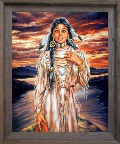 Indian Maiden J Chardon Native American Wall Decor Art Print Framed Picture