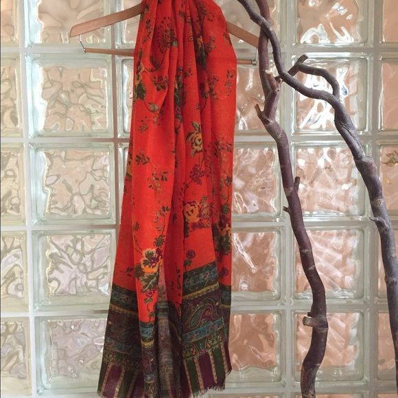 Original REITMAYER Scarf Beautiful wool scarf from Germany, original Reitmayer - soft and very colourful Reitmayer Accessories Scarves & Wraps