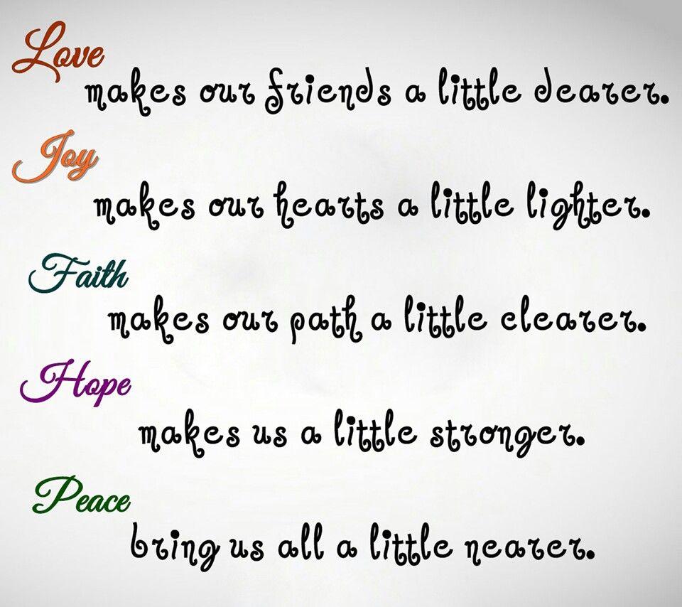 Peace Love Joy Quotes Lovejoyfaithhopepeace  Quotes  Pinterest