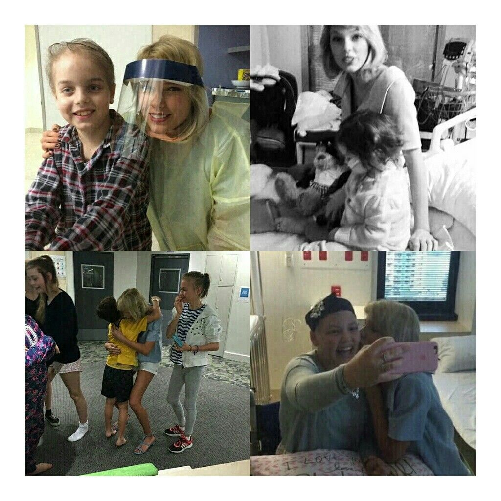 Que fofa! A #TaylorSwift visitou um hospital infantil pediátrico Lady Cilento em Queensland, na Austrália. • • • • • • • • • • • • • • • • • • • • • • • • • • • • •  How cute! @taylorswift visited a children's hospital pediatric, Lady Cilento in Queensland, Australia.