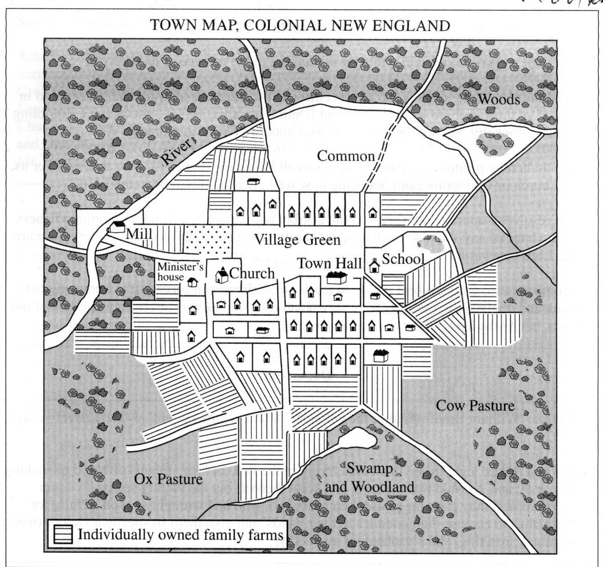 Great Map Of A Colonial Town