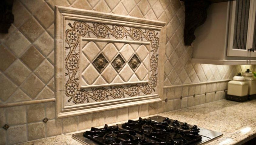 Tile Backsplash Medallion Tile Medallions Home Depot Kitchen Depot