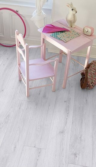 parquet pvc clipsable blanc gerflor senso lock plus 55 0286 sunny white bricoflor d co. Black Bedroom Furniture Sets. Home Design Ideas