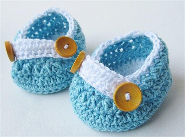 Crochet Newborn Baby Shoes