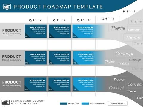 Four Phase Software Planning Timeline Roadmap Presentation Diagram