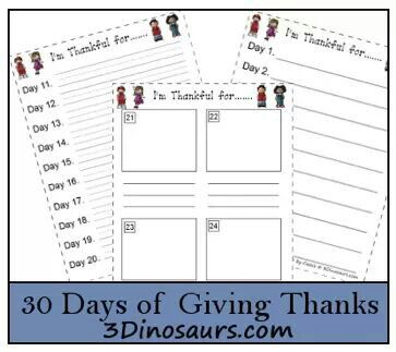 30 days of giving thanks!