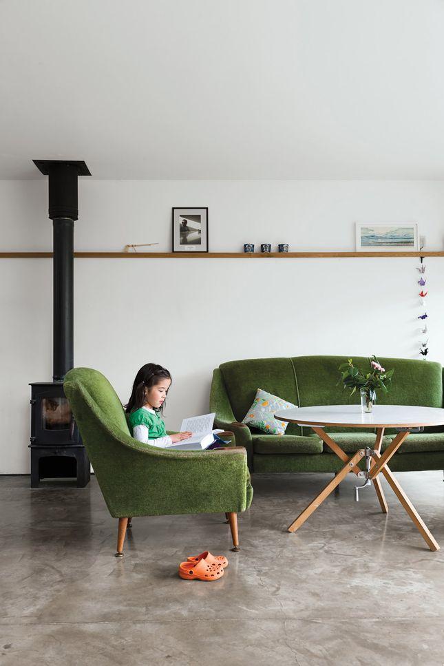 old sofa in modern setting / dwell