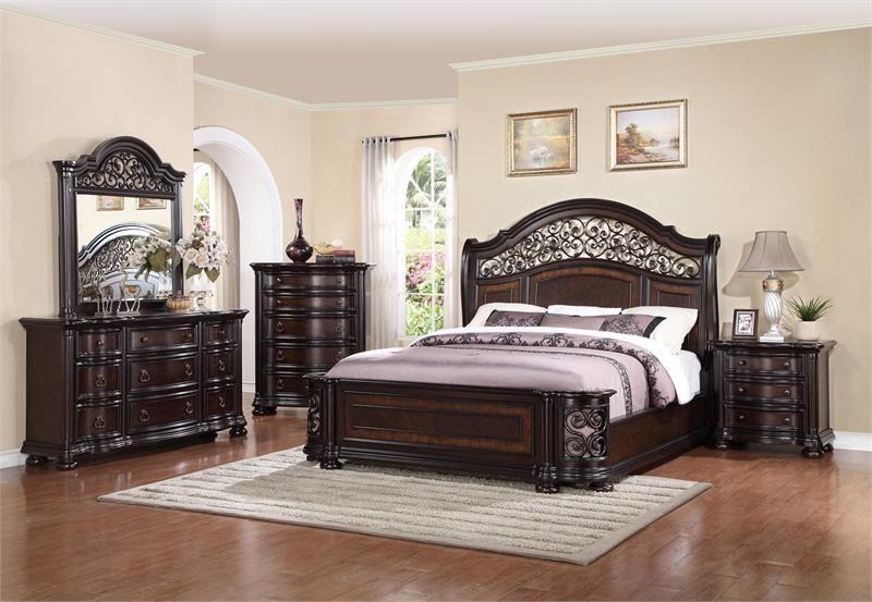 Mcferran B366 4 Piece Bedroom Set In 2020 King Size Bedroom Sets