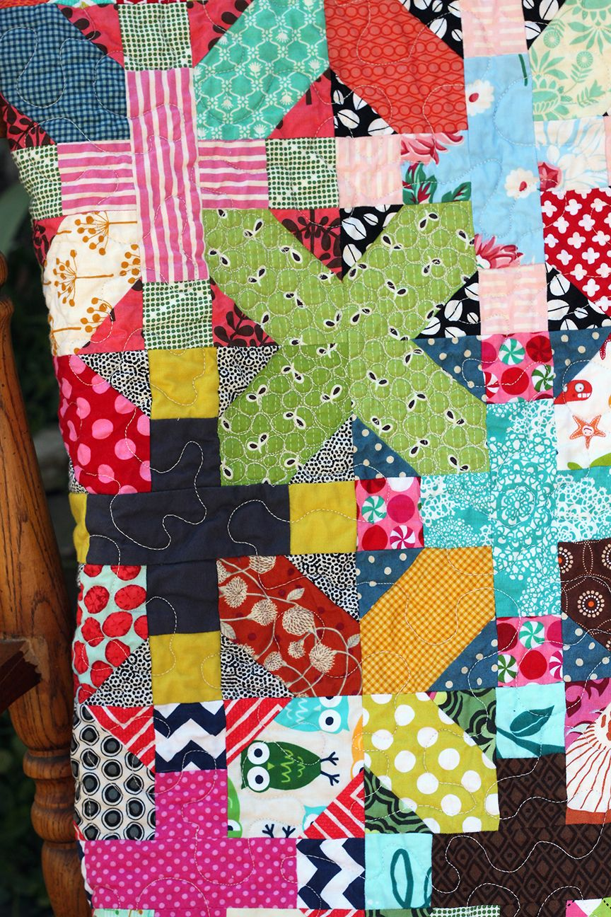 Craft Online Store Scrappy X And Plus Lap Throw Quilt From Knottygnome Crafts