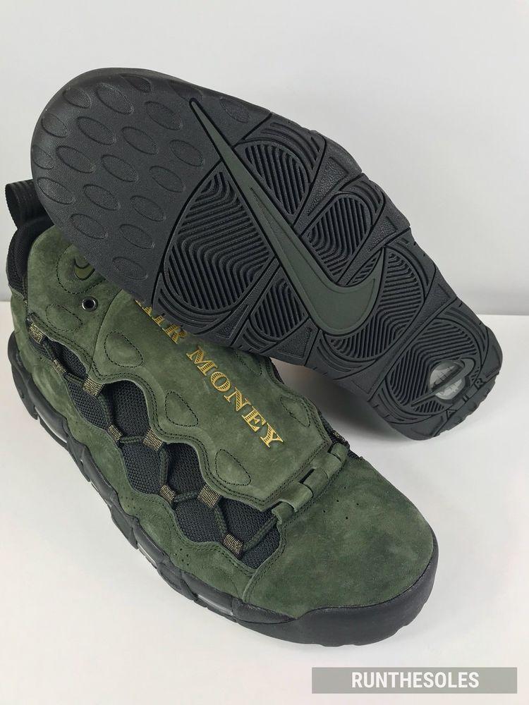 finest selection 4a97e b1d13 Nike Air More Money QS US Dollar Sequoia Black Metallic Gold (AJ7383-300)