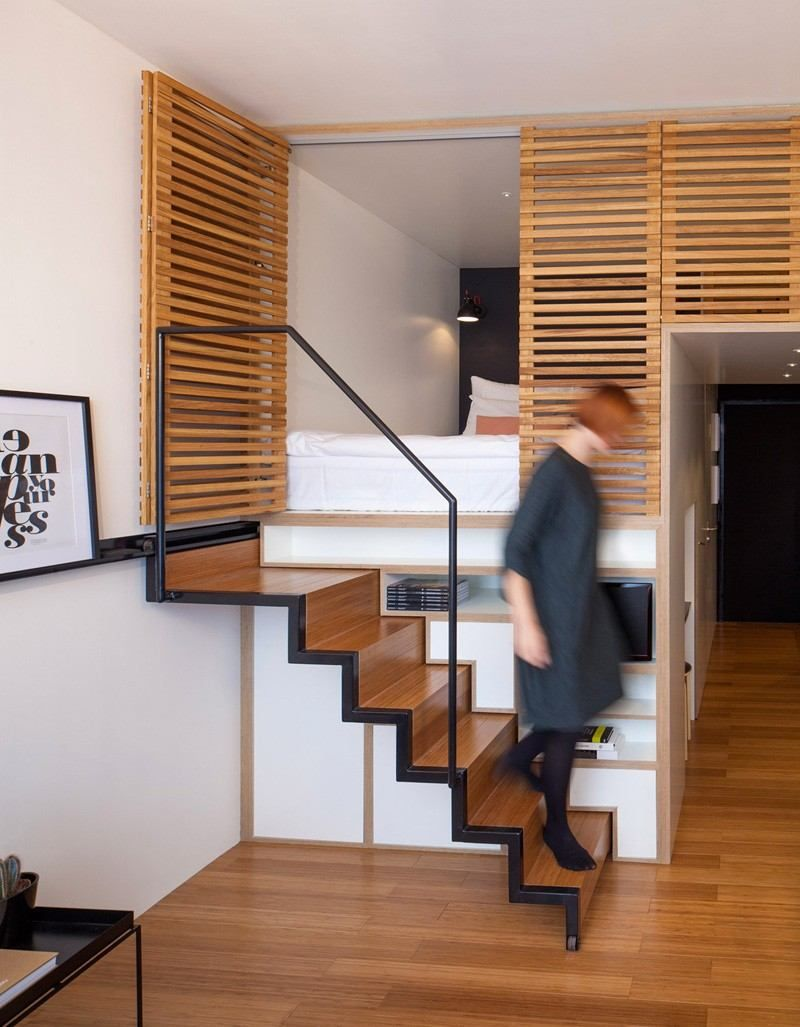Appartement Studio Design Le Zoku Fonctionnel Et Esthetique Appartements Studio Comment Amenager Une Petite Chambre Appartement
