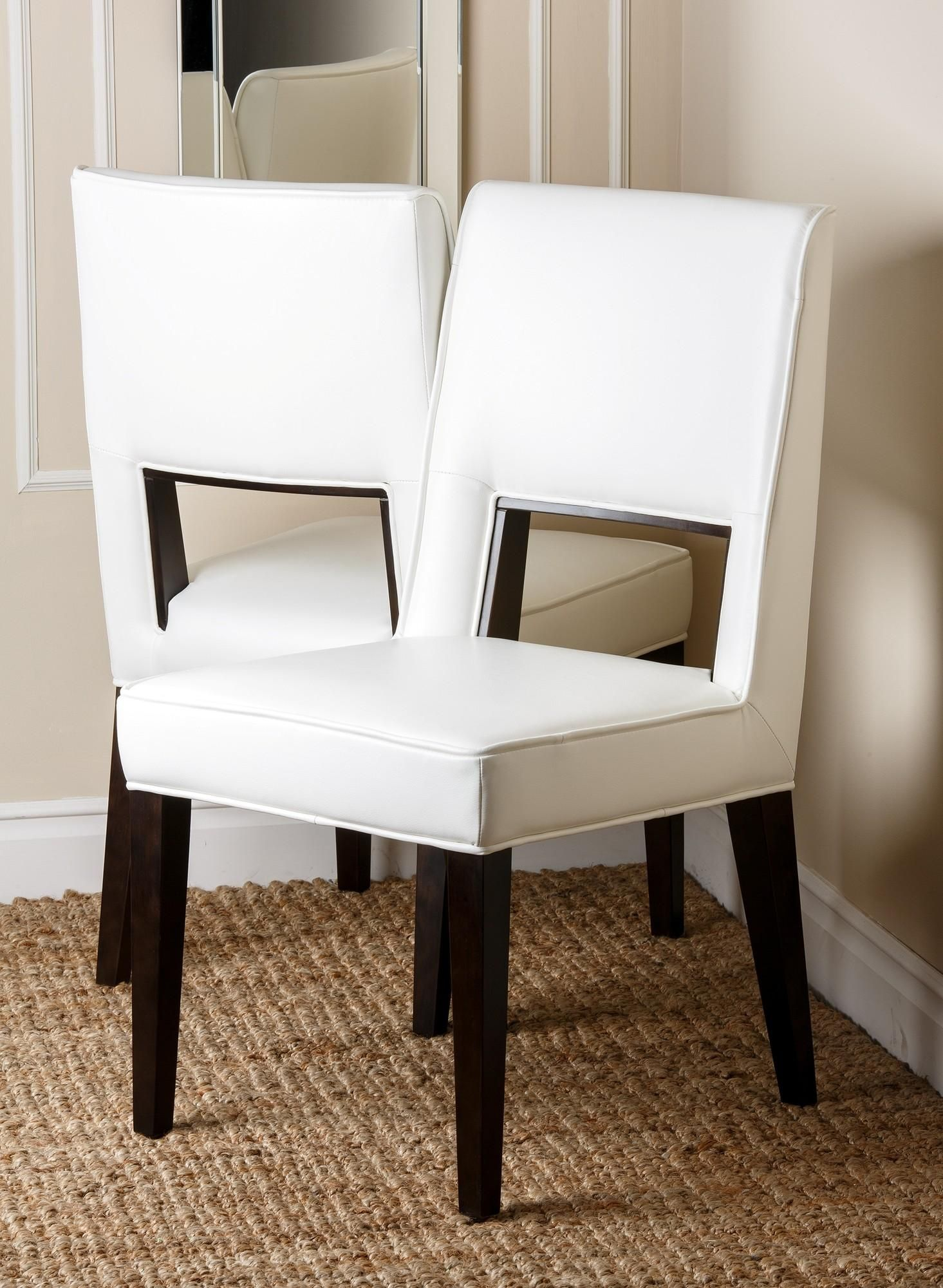Awe Inspiring Suix Leather Dining Chair Set Of 2 By Abbyson Living Ibusinesslaw Wood Chair Design Ideas Ibusinesslaworg