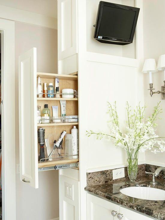 PraktischerEinbauschrankBad Sachen Unterbringen Pinterest - Badezimmer einbauschrank