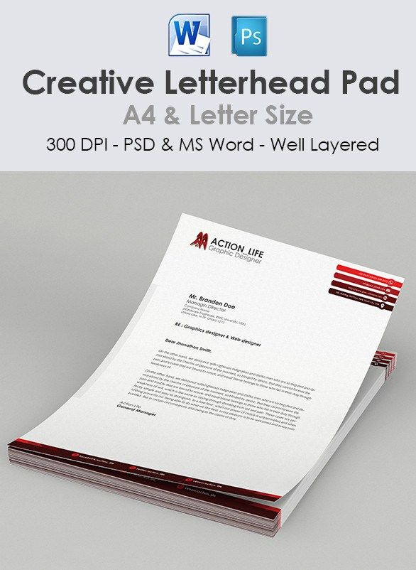 Exclusive collection of professionally designed Free Letterhead - free microsoft word letterhead templates