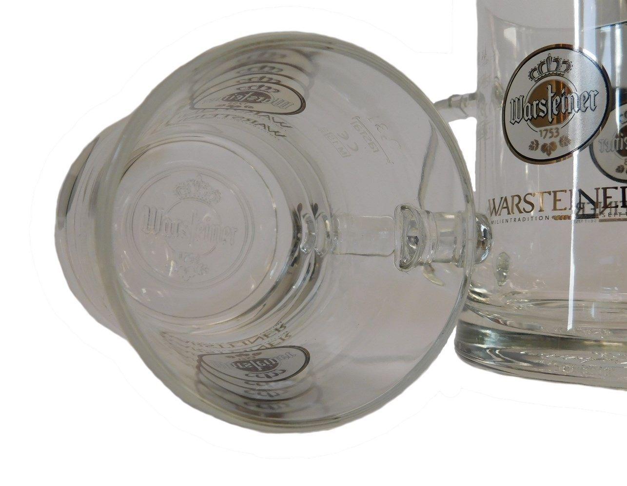 "NEW German Beer Glasses 0.3 Litre set of 2 /""Premium Cup/"" Warsteiner"