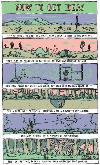 How To Get Ideas! by Grant Snider | Writing humor, Writing ...