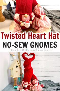 How to Make a Valentine Gnome - Heart Sock Gnome C