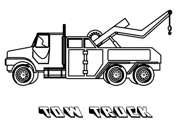Large Tow Semi Truck Coloring Page For Kids Transportation Coloring Pages Printables Truck Coloring Pages Monster Truck Coloring Pages Tractor Coloring Pages