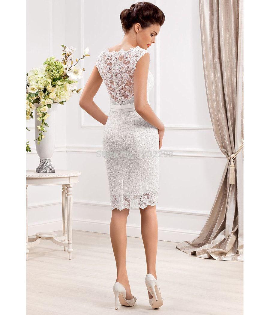 Vestidos de novia cortos para boda civil pegados