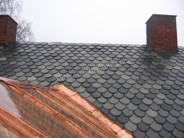 Slate Fish Scale Roofing Slate Roof Tiles House Roof Roofing