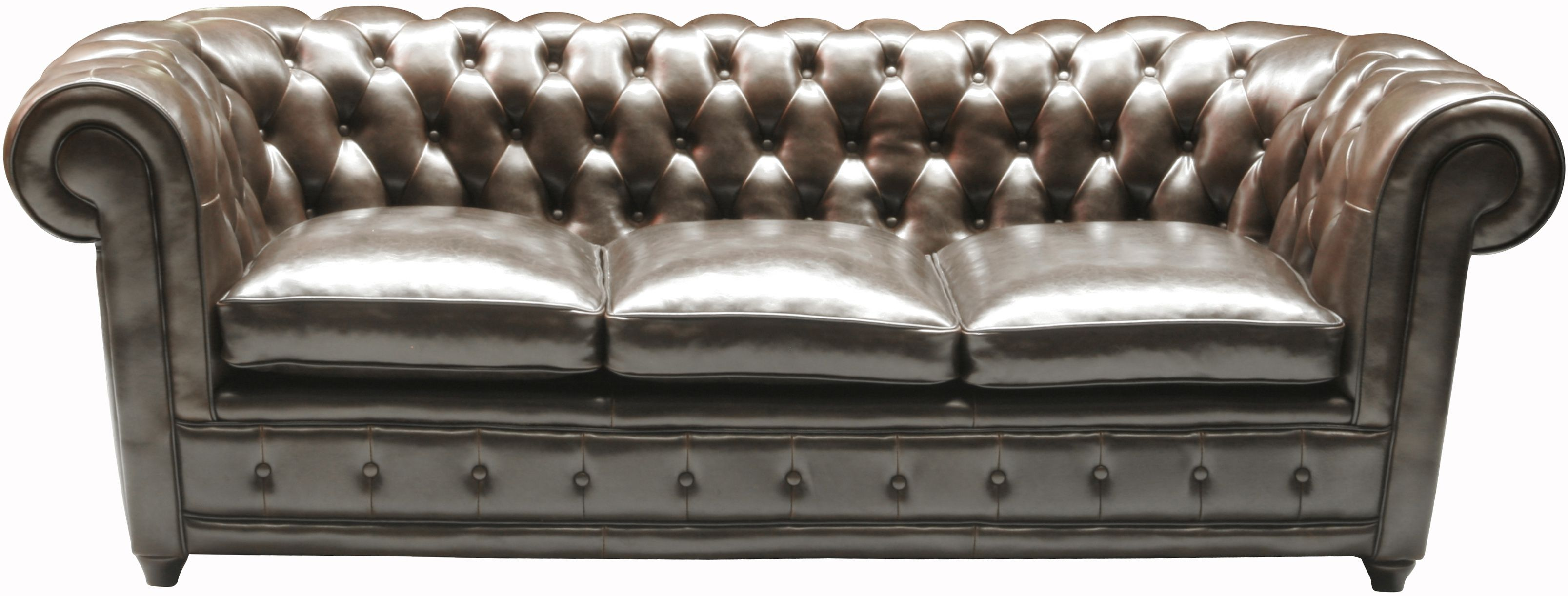 KARE Design Sofa Oxford 3 Sitzer Napalon in englischem Chesterfield