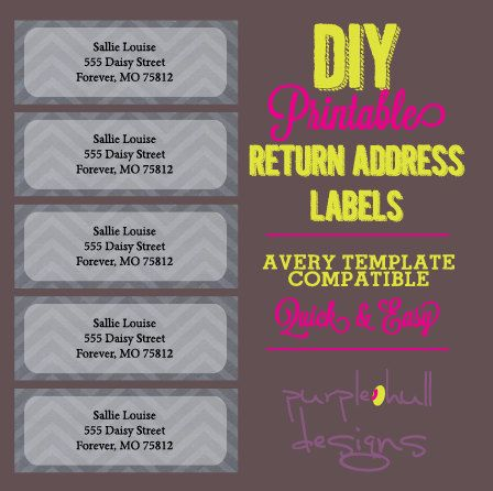 Chalkboard and Chevron Return Address Labels, Avery Template, DIY