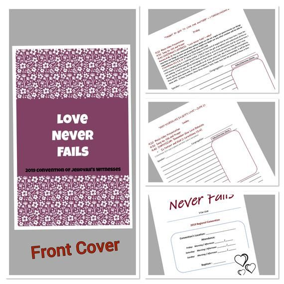 2019 Regional- International Convention Notebook for adults - LOVE