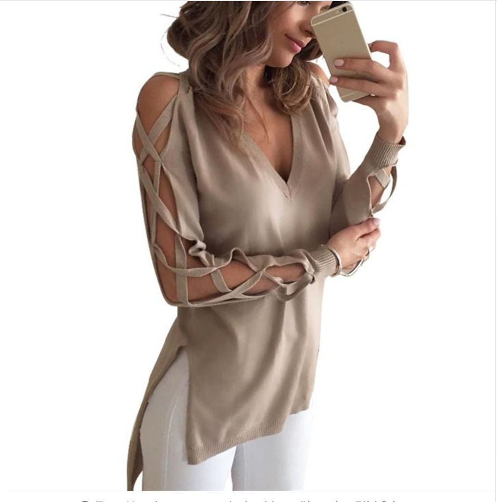 Ladies Cold Shoulder Sweater