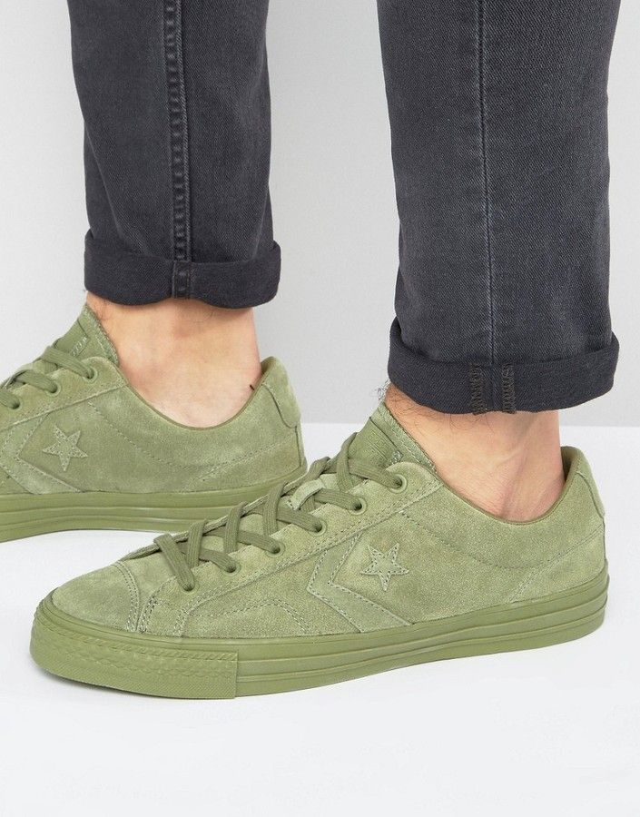476b7741bc4fe8 Converse Star Player Sneakers In Green 155403C