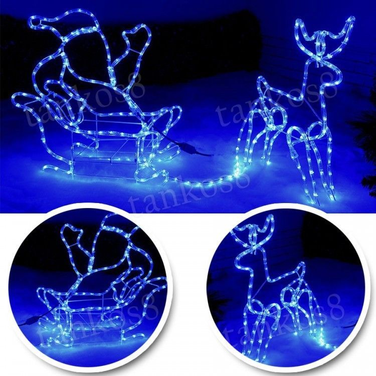 Silhouette santa on sleigh large reindeer 180 c led rope lights silhouette santa on sleigh large reindeer 180 c led rope lights christmas decor in home furniture diy celebrations occasions christmas decorations aloadofball Images